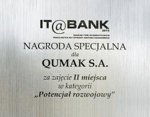 Qumak nagroda IT Bank 2015 Potencjal Rozwojowy