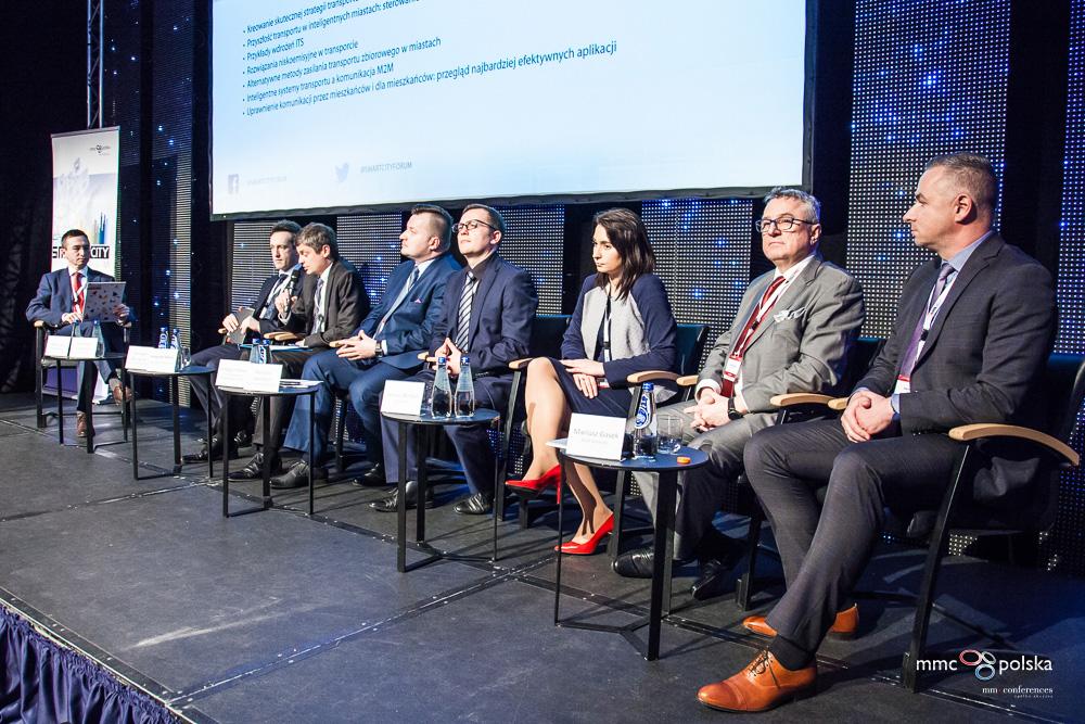 Panel dyskusyjny Transport podczas Smart City Forum 2016 (fot. MMC)