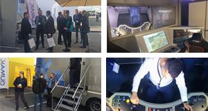 Symulator lokomotywy SIMTRAQ - wnetrze i naczepa TIR - pakiet zdjec