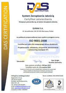 DAS ISO Certyfikat Qumak
